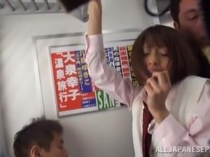 asian schoolgirl harassed in train