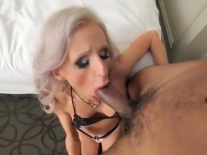 Shemale Juliette gets her throat used brutally