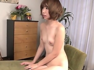 Sexy japanese porn diva Seira Matsuoka shows off her sexy nude body as she...