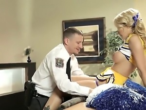 After cheerleader practice, Jessica Drake fells all hot and sweaty. She goes...