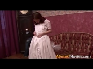 Redhead Bride To be Brutally Forced Fucked free