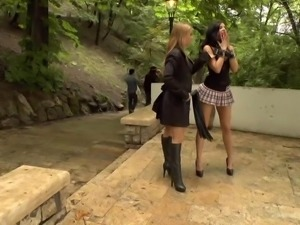 bad girl is whipped on the street