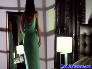 Cheating redhead wife in stockings swallows free