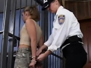 Babe Dominated By Female Police Officer