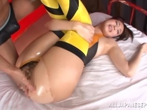 horny pussy cat gets oiled
