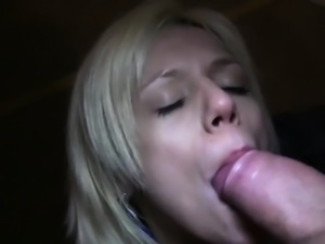 Stranger fucks blonde in public underground car park