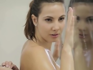 Josephine Miela and Candice in sensual bathing