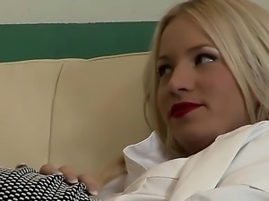 Kiara Lord is a blonde babe with some big boobs and shes going to have a...