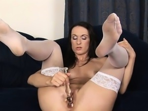 Getting her clits rubbed makes hotty awfully moist
