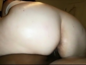 Big Ass BBW riding on a big black shaft