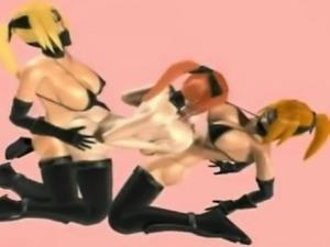 3D Futanari Ninjas and Goth Hermaphrodites!