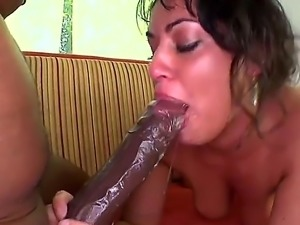 Charley Chase is one really ambitious brunette. She tried to fit all of...