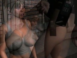 Splendid anime babe with huge tits doing oral