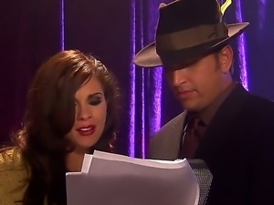 Man in hat Randy Spears has unforgettable sex in office with beautiful blonde...