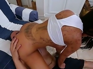 Lela Star is a black haired pornstar thats going to suck on his big schlong...