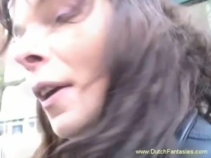 Dutch Whore Fucked Rough On Couch