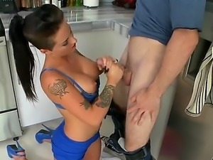 This tattooed bimbo is so damn naughty, slutty bitch named Christy Mack gets...