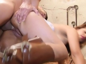 Leggy babe adores when sex is full of burning passion