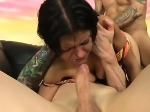 Nurse Yesenia Sparkles Gags From Big Cock Of Patient