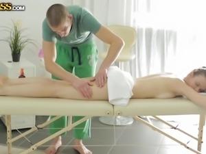 desirable margarita enjoys her massage