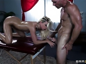 Johnny Sins touches the hottest parts of extremely horny Jessie Volts body...