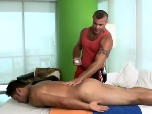 Impressive hunk is giving gay a deep anal pounding