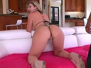 Sara Jay is a top heavy blonde that is getting her ass touched and her pussy...