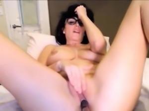 College brunette chick masturbate with sextoy