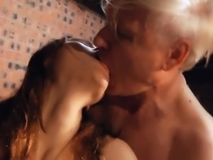 Russian babe Macy Nata gets old boner doggy drill
