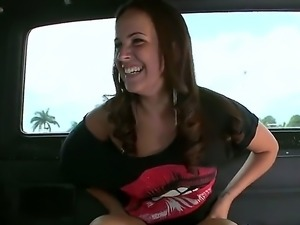 Mia Angelina is a brunette that is getting cumshot in the face. The Latina...