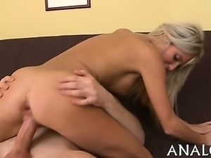 Marvelous chick is moaning with delight during anal drubbing