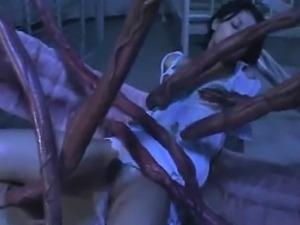 Nurse Gets Wrecked by Alien Tentacles!