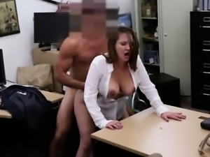 Big tits in uniform first time Foxy Business Lady Gets Fucke