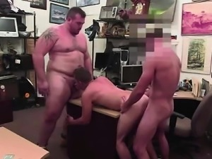 Gay spit roast for straight dude for pay in pawn shop