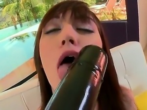 Alana Rains is with Mr. Anal. He has a huge dildo in his hand and he is...