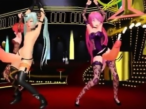 Futa Dance Girls - Horny 3D anime sex world