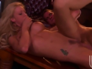 Katie Morgan has some dirty fantasies to be fulfilled with guys sturdy fuck...
