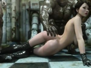 3D Superheroine Gangbanged by Mutants!