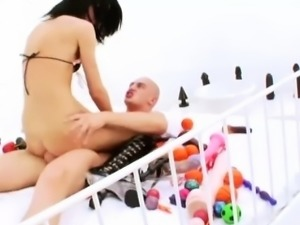 Super slim anal queen Hotkinkyjo extreme ass fuck sesion