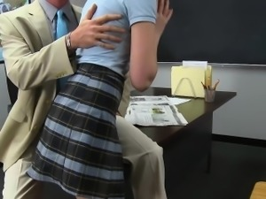Naughty Campus Newbie Initiation With The Principal
