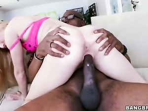 Interracial sex with hot blonde