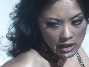 Kaylani Lei enjoys dudes meaty rock hard worm in her juicy mouth