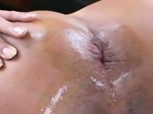 Close up anal penetration and masturbation