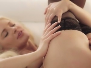 Luxury lesbian cheerleader babes making love and eating cunt