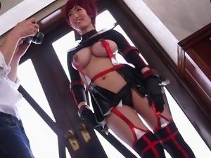 cosplay hottie needs cock in her mouth