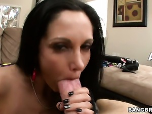 With giant boobs enjoys cunt stretching wild porn action