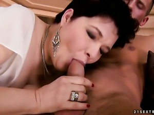 Goldee with gigantic hooters cant get enough and takes dudes stiff snake in...