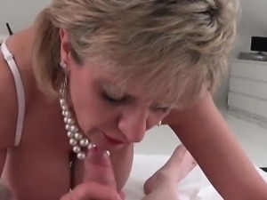 Adulterous english milf lady sonia presents her big balloons