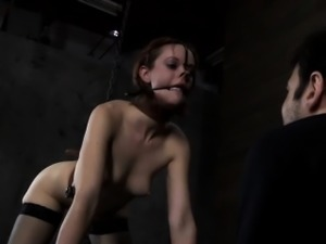 Tattooed beauty acquires electrifying toy on her cunt