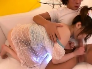 Tokyo teen clit stimulated with toy